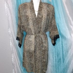 California Dynasty animal print sheer robe